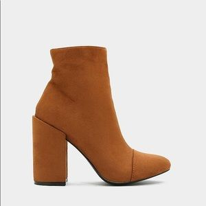 Brand New Faux Suede Brown Booties